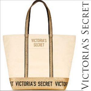 Victoria's Secret Glittery gold tote